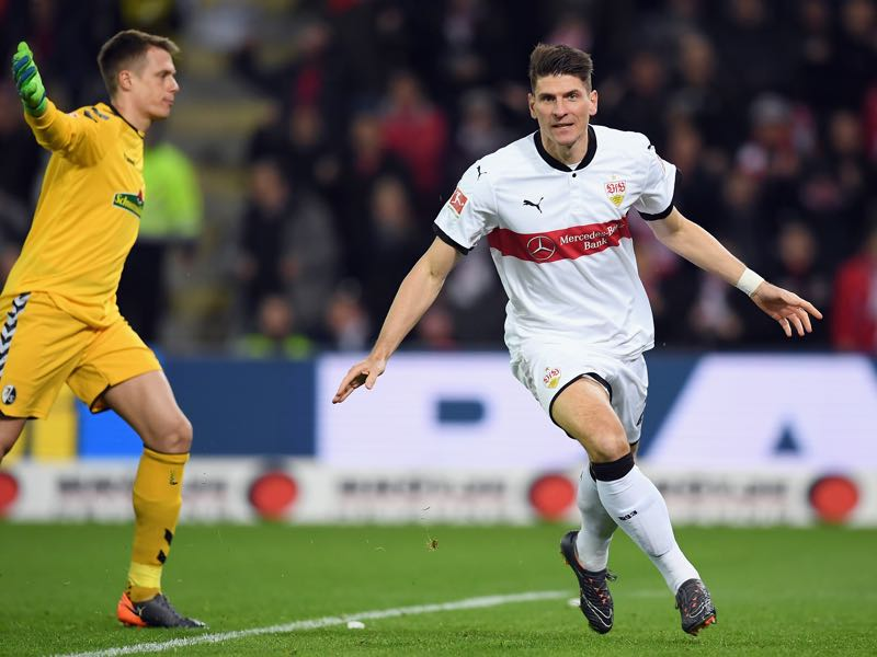 How often will Stuttgart fans press the Mario Gomez button on Sunday? (Photo by Matthias Hangst/Bongarts/Getty Images)