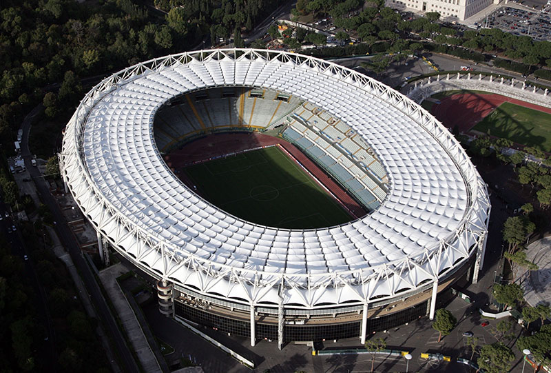 The Stadio Olympico will host Roma vs Liverpool on Wednesday night as the Champions League awaits its last finalist. (Photo by Gareth Cattermole/Getty Images)