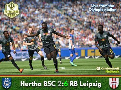 Leipzig dominate Hertha to seal their Europa League spot
