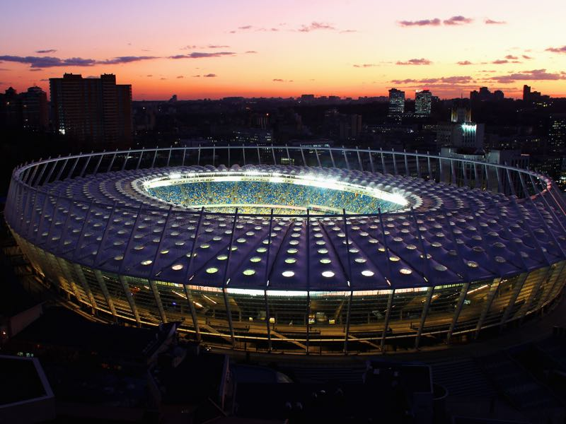 Real Madrid vs Liverpool will take place at the NSC Olimpiyskiy in Kyiv Ukraine (Photo by Joern Pollex/Getty Images)