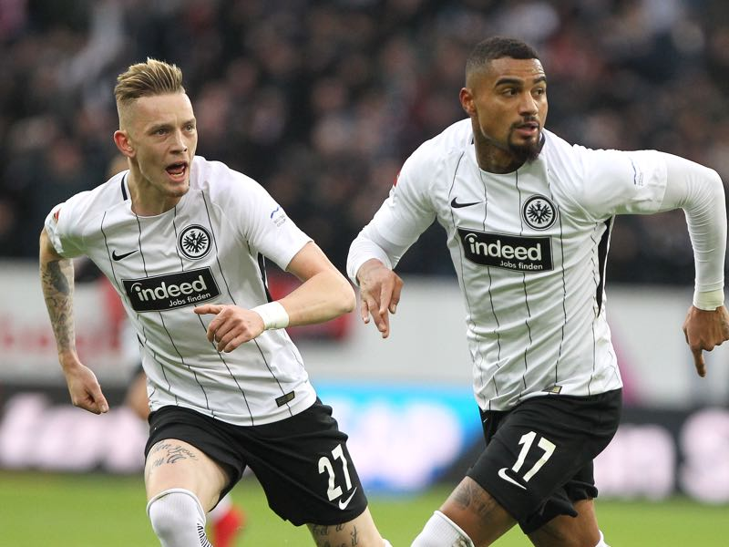 Kevin-Prince Boateng (r.) believes that it will only be a question of time until Marius Wolf (r.) will be called up to the national team Marius Wolf was given little to no chance at Hannover 96 (Photo by Alex Grimm/Bongarts/Getty Images)