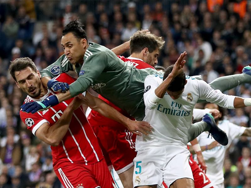 The Champions League semi-final Real against Bayern was a tightly fought affair. (Photo by Lars Baron/Bongarts/Getty Images)