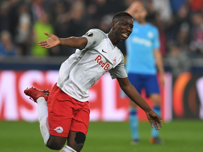 Salzburg v Marseille - Amadou Haidara was outstanding despite being sent off. (CHRISTOF STACHE/AFP/Getty Images)