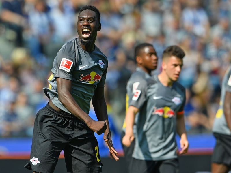 Hertha vs Leipzig - Jean-Kévin Augustin was the player of the game. (Photo by Thomas Starke/Bongarts/Getty Images)