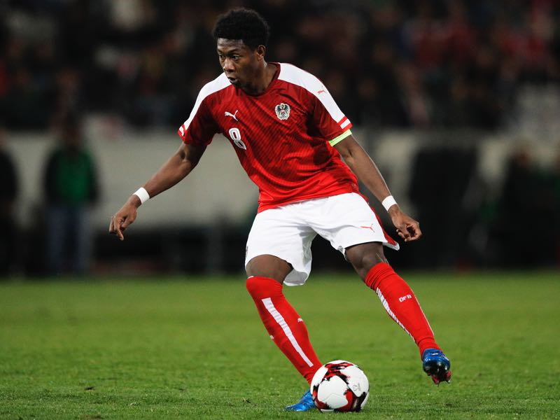 David Alaba will find himself in a new role under Teamchef Franco Foda Austria vs Germany will take place at the Wörthersee Stadion in Klagenfurt (Photo by Adam Pretty/Bongarts/Getty Images)