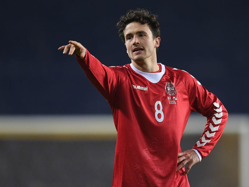 A Danish-American citizen Thomas Delaney will be representing Denmark at the 2018 FIFA World Cup in Russia Thomas Delaney (r.) can dominate the midfield (Photo by Stuart Franklin/Bongarts/Getty Images)