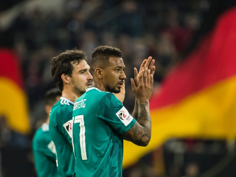 Mats Hummels (l.) and Jérôme Boateng (r.) will be key in Germany's defence (ODD ANDERSEN/AFP/Getty Images)
