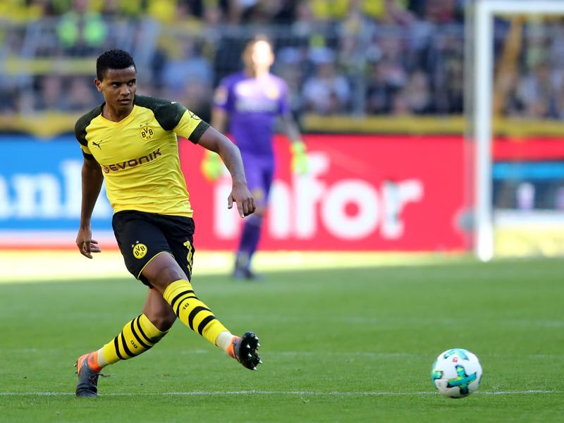 Abdou Diallo is expected to partner up with Manuel Akanji (pictured) (Photo by Christof Koepsel/Bongarts/Getty Images)