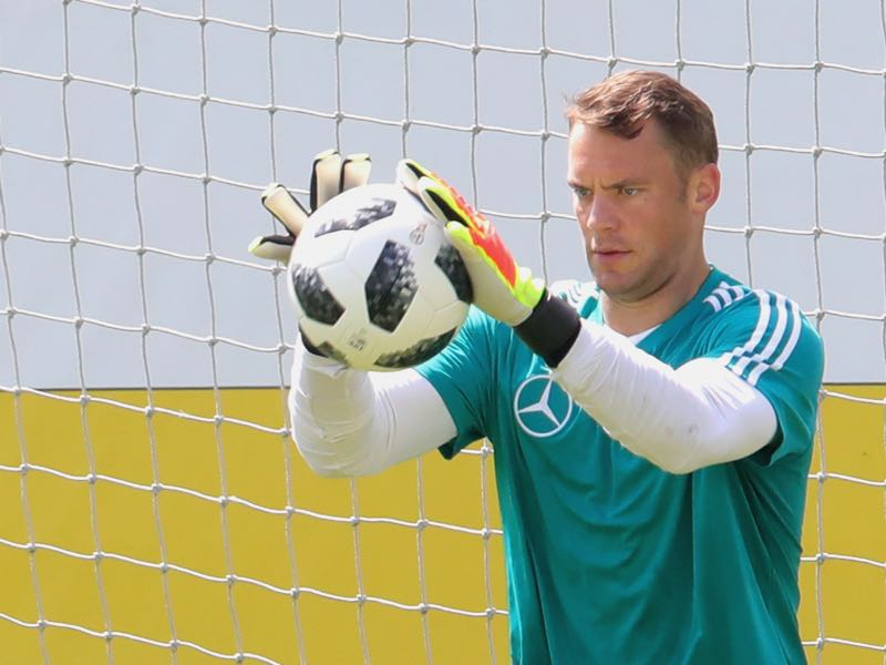 Manuel Neuer has only played 360 minutes of competitive football this season but in Löw's analysis he is still ahead of the likes of Marc-André ter Stegen (Photo by Alexander Hassenstein/Bongarts/Getty Images)