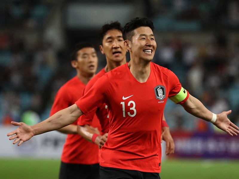 Son Heung-min is South Korea's biggest star and one of the players to watch in Group F (Photo by Chung Sung-Jun/Getty Images)