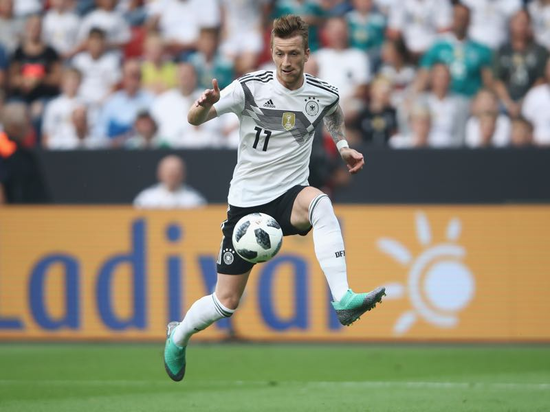Marco Reus managed to get through the friendly with Saudi Arabia without suffering an injury (Photo by Alex Grimm/Bongarts/Getty Images)