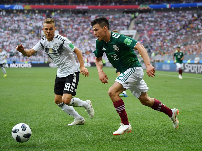Hirving Lozano dominated Joshua Kimmich at will throughout the match (Photo by Hector Vivas/Getty Images)