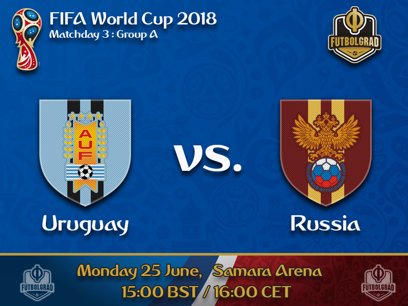 Uruguay and Russia to battle for first place in Group A