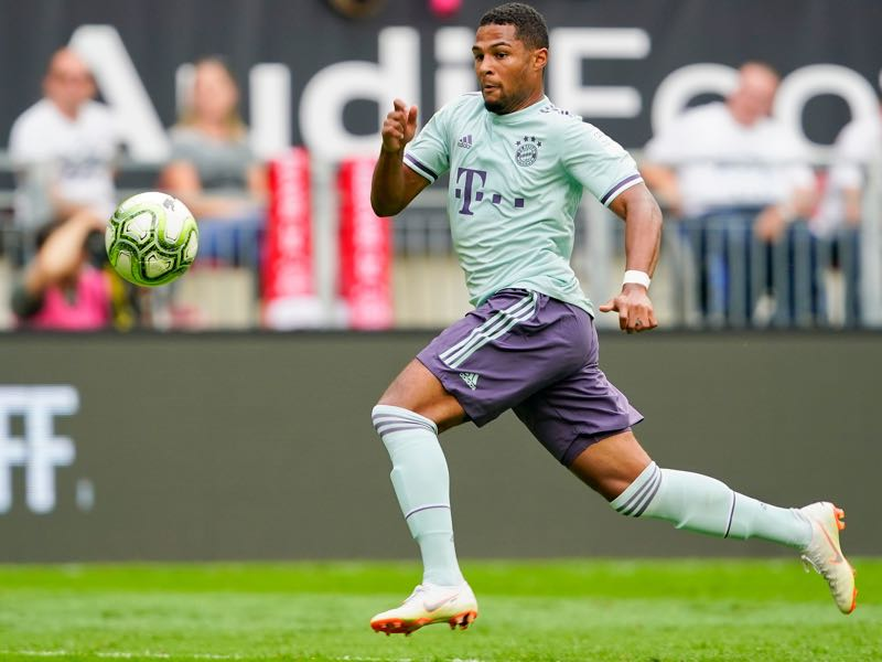 Serge Gnabry of FC Bayern München during the AUDI Football Summit match between Bayern Muenchen and Paris St. Germain at Woerthersee Stadion on July 21, 2018 in Klagenfurt, Austria. (Photo by Josef Bollwein - Sepa Media/Bongarts/Getty Images)
