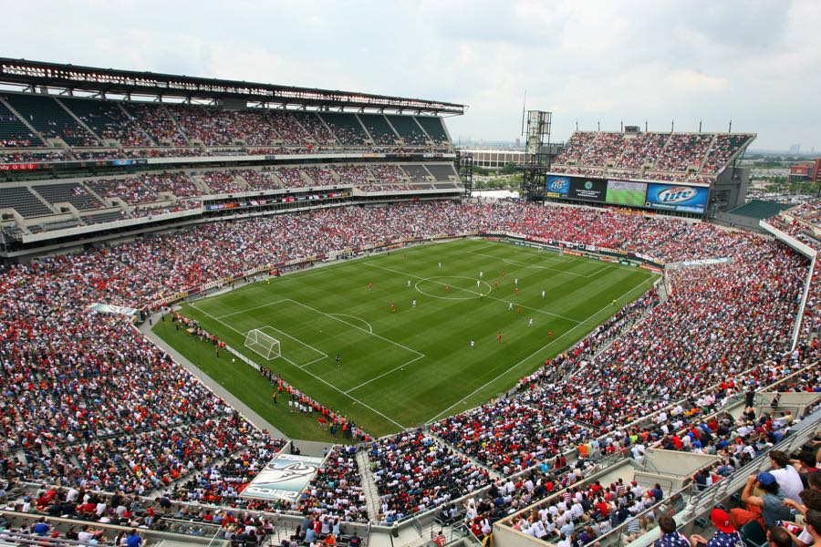 Juventus vs Bayern München will take place at the Lincoln Financial Field in Philadelphia (Photo by Hunter Martin/Getty Images)