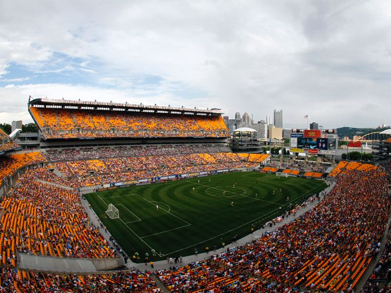 Borussia Dortmund vs Benfica will take place at the Heinz Field in Pittsburgh (Photo by Justin K. Aller/Getty Images)