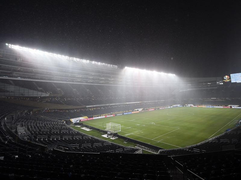 Manchester City vs Borussia Dortmund will take place at Soldier Field in Chicago (Photo by Stacy Revere/Getty Images)