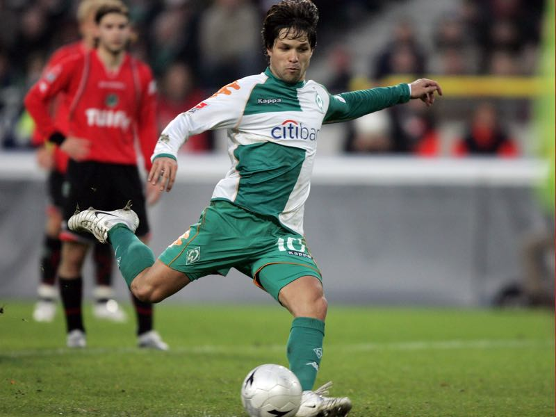 Brazilian Diego was one of the many playmakers that wore Werder Bremen's green and white shirt (Photo by Friedemann Vogel/Bongarts/Getty Images)