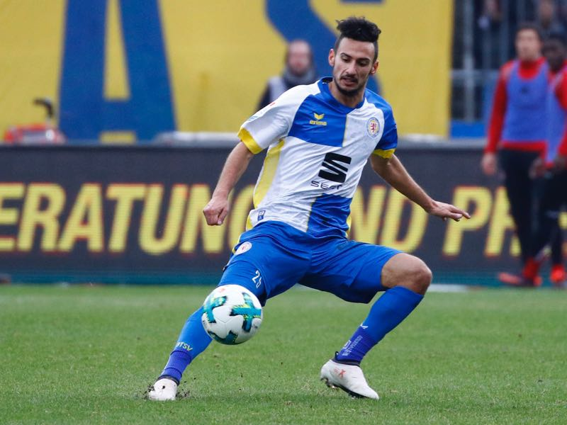 nur Bulut of Braunschweig during the Second Bundesliga match between Eintracht Braunschweig and 1. FC Kaiserslautern at Eintracht Stadion on February 4, 2018 in Braunschweig, Germany. (Photo by Joachim Sielski/Bongarts/Getty Images)