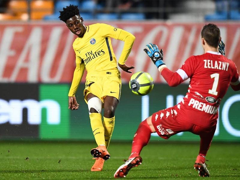 Timothy Weah has already featured for PSG in Ligue 1 (FRANCK FIFE/AFP/Getty Images)
