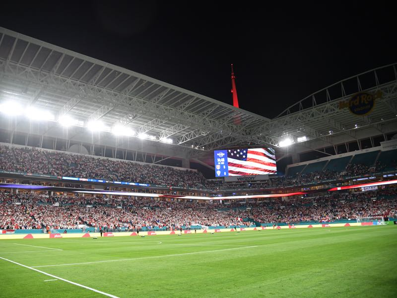 Bayern vs Manchester City will take place at the Hard Rock Stadium in Miami (Photo by Mark Brown/Getty Images)