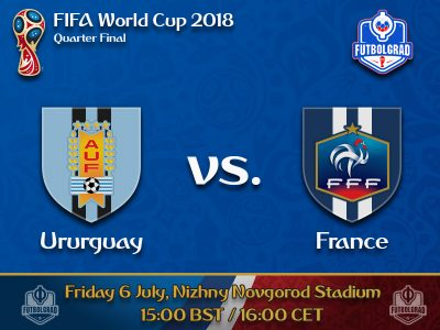 Uruguay and France to battle for a spot in the top four