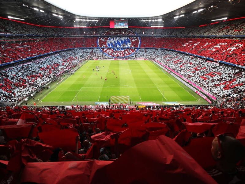 Bayern vs Schalke will take place at the Allianz Arena in Munich (Photo by Adam Pretty/Bongarts/Getty Images)
