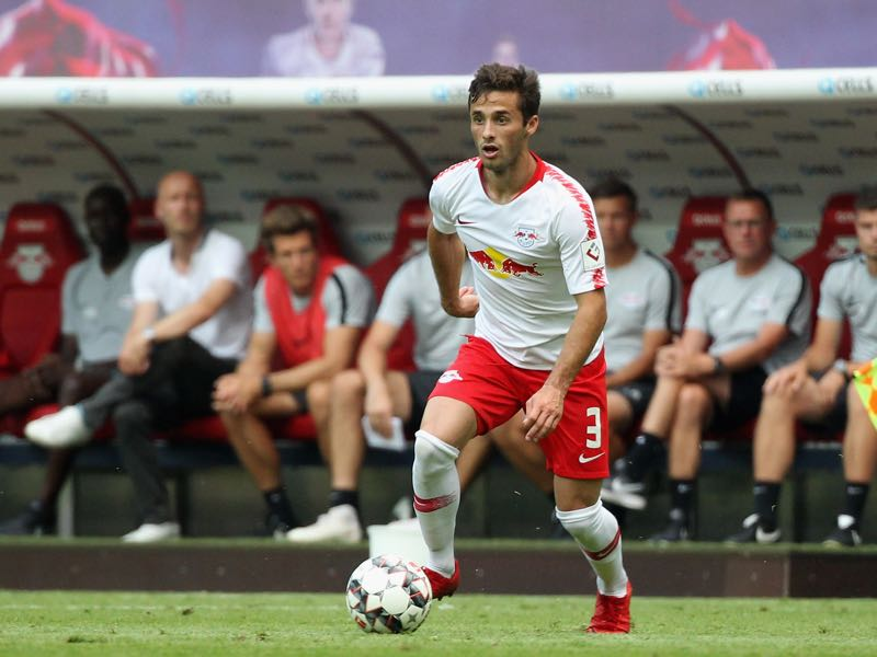 Marcelo Saracchi of Leipzig during the UEFA Europa League Third Qualifying Round: 1st leg between RB Leipzig and Universitatea Craiova at Red Bull Arena on August 09, 2018 in Leipzig, Germany. (Photo by Karina Hessland-Wissel/Bongarts/Getty Images)