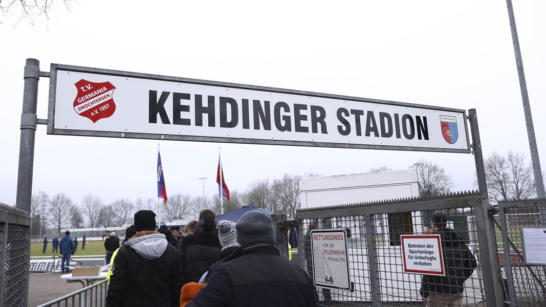 Drochtersen vs Bayern will take place at the Kehdinger Stadion in Drochtersen (Photo by Oliver Hardt/Bongarts/Getty Images)