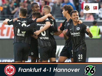 The Bundesliga on Sunday – Frankfurt soar, Hannover crash