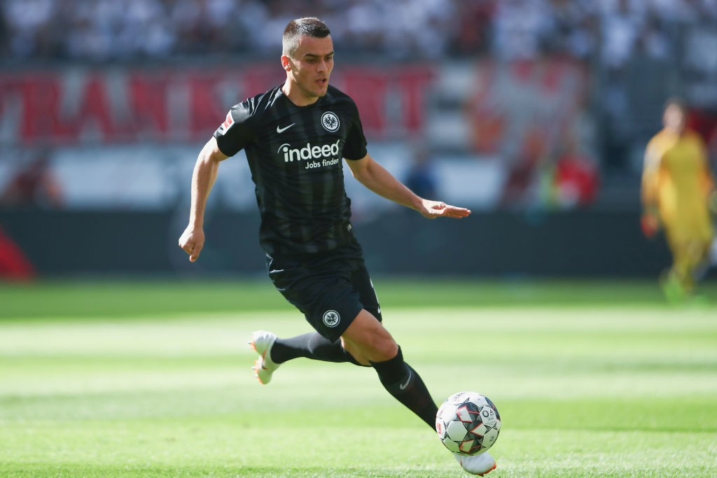 Filip Kostic of Frankfurt controls the ball during the Bundesliga match between Eintracht Frankfurt and SV Werder Bremen at Commerzbank-Arena on September 1, 2018 in Frankfurt am Main, Germany. (Photo by Alex Grimm/Bongarts/Getty Images)