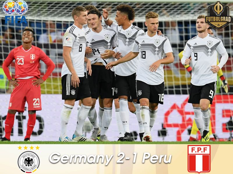 Germany come from behind to beat Peru in Sinsheim
