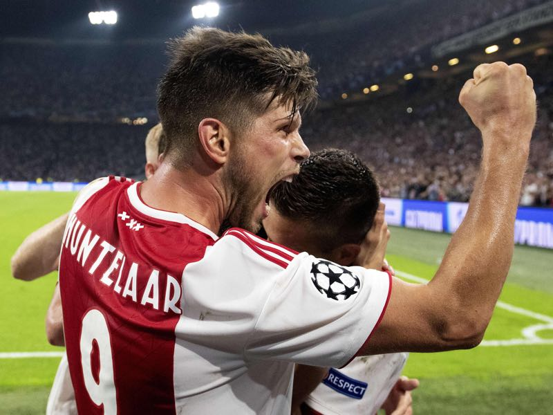 Klaas-Jan Huntelaar remains a goalscoring machine and will be the man to mark for those facing Ajax in Group E (JAPER RUHE/AFP/Getty Images)