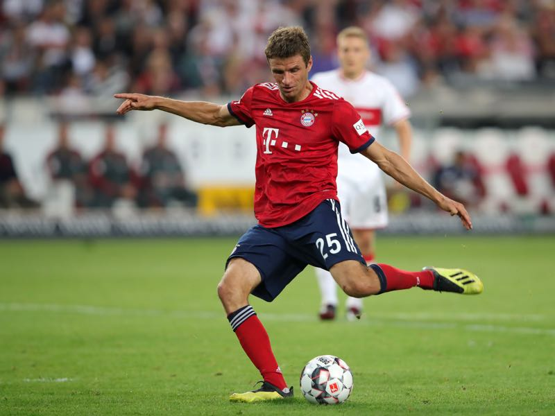 Stuttgart v Bayern - Thomas Müller was the man of the match (Photo by Alexander Hassenstein/Bongarts/Getty Images)