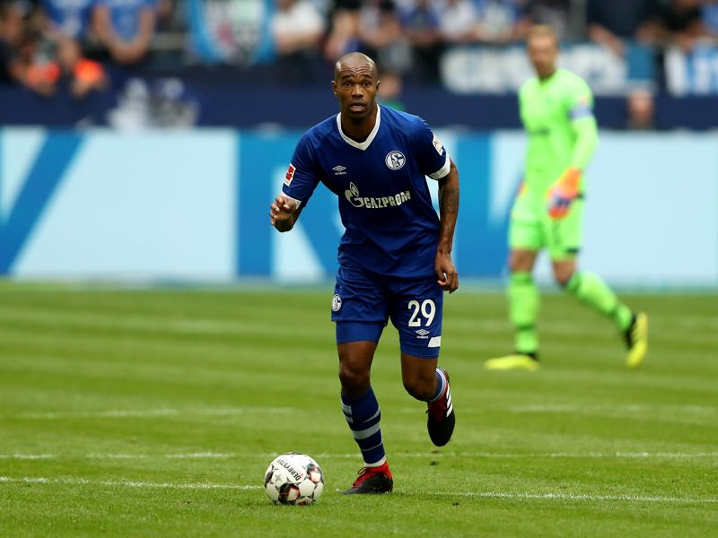 Naldo of Schalke runs with the ball during the Bundesliga match between FC Schalke 04 and Hertha BSC at Veltins-Arena on September 2, 2018 in Gelsenkirchen, Germany. (Photo by Christof Koepsel/Bongarts/Getty Images)