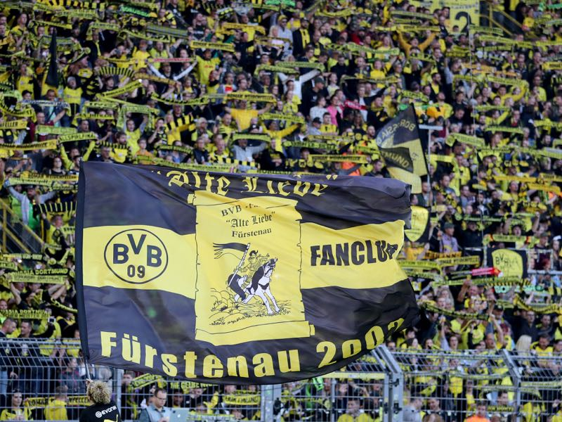 Borussia Dortmund have recorded an annual revenue of over €400 million this season. The fans of there South tribune during the Roman Weidenfeller Farewell Match between Borussia Dortmund Allstars and Roman and Friends at Signal Iduna Park on September 7, 2018 in Dortmund, Germany. (Photo by Christof Koepsel/Bongarts/Getty Images)