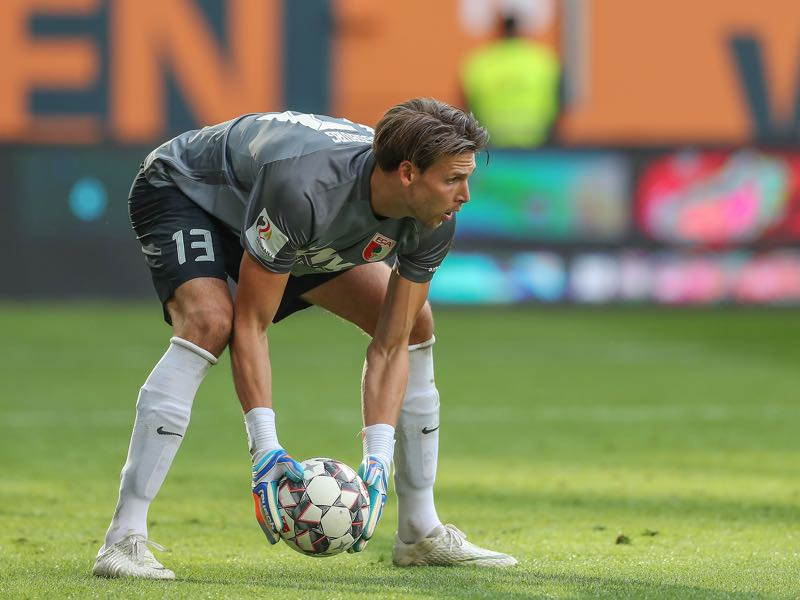 Fabian Giefer of Augsburg in action during the Bundesliga match between FC Augsburg and SV Werder Bremen at WWK-Arena on September 22, 2018 in Augsburg, Germany. (Photo by Christian Kaspar-Bartke/Bongarts/Getty Images)