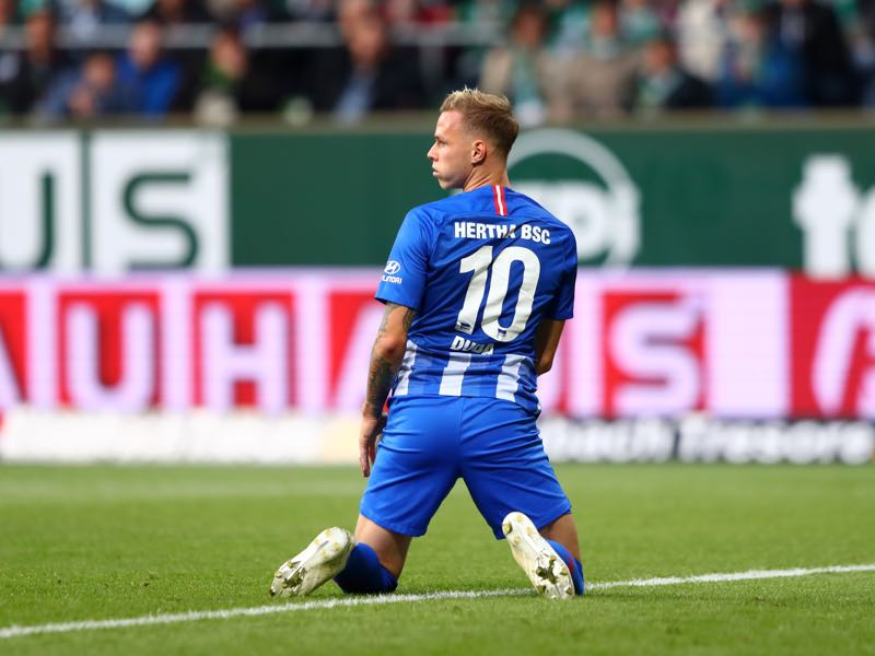Ondrej Duda of Hertha BSC looks on after a missed chance during the Bundesliga match between SV Werder Bremen and Hertha BSC at Weserstadion on September 25, 2018 in Bremen, Germany. (Photo by Martin Rose/Bongarts/Getty Images)