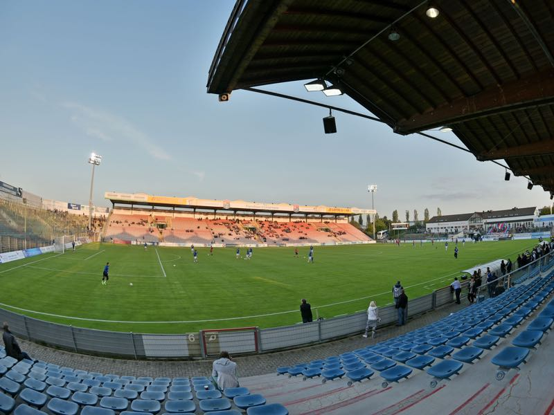 Unterhaching vs 1860 Munich will take place at the Alpenbauer Sportpark in Unterhaching (Photo by Thomas Starke/Bongarts/Getty Images)