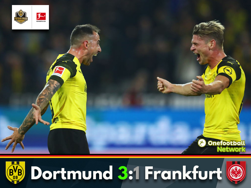 Dortmund eventually fire past Frankfurt thanks to Jadon Sancho's creativity