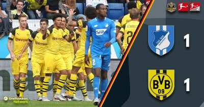 Pulisic once again the saviour as BVB escape with a point against Hoffenheim