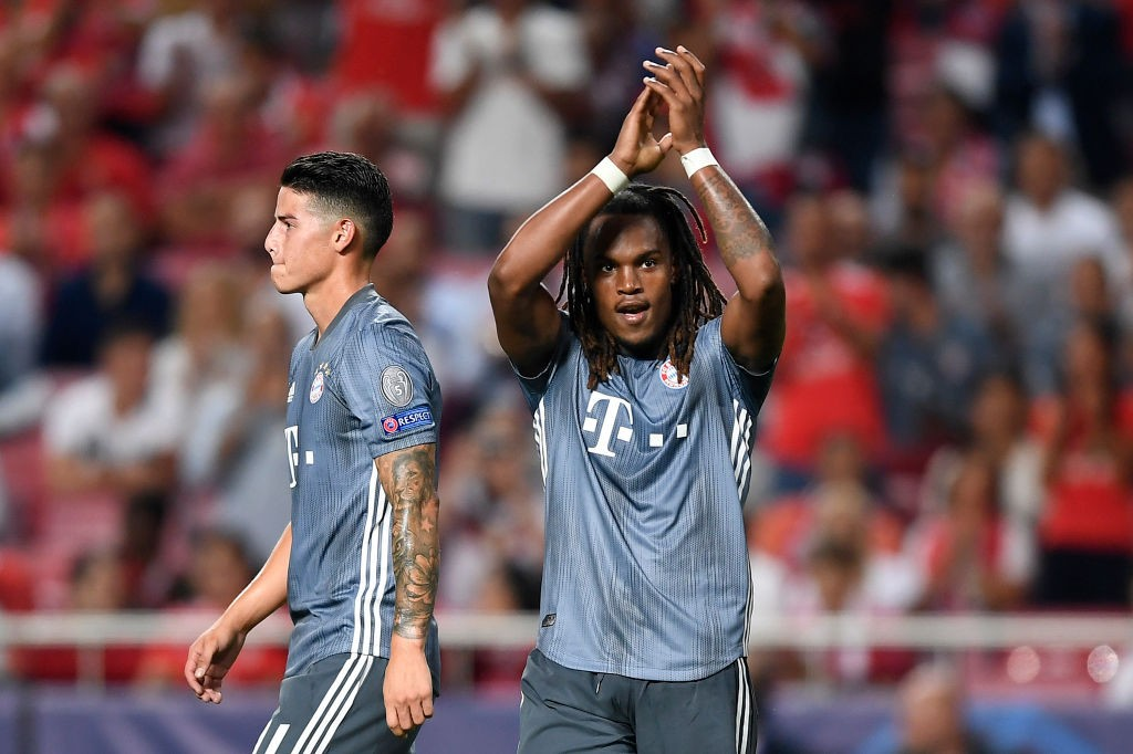 Benfica v Bayern München - Renato Sanches of Bayern Munich celebrates after scoring his team's second goal during the Group E match of the UEFA Champions League between SL Benfica and FC Bayern Muenchen at Estadio da Luz on September 19, 2018 in Lisbon, Portugal. (Photo by Octavio Passos/Getty Images)