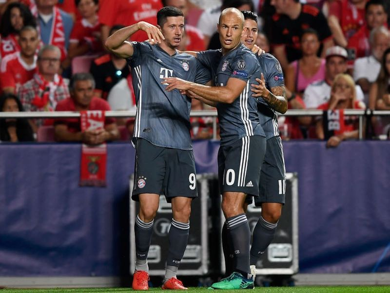 Benfica v Bayern München highlighted the likes of Lewandowski and Robben cannot be replaced (Photo by Octavio Passos/Getty Images)