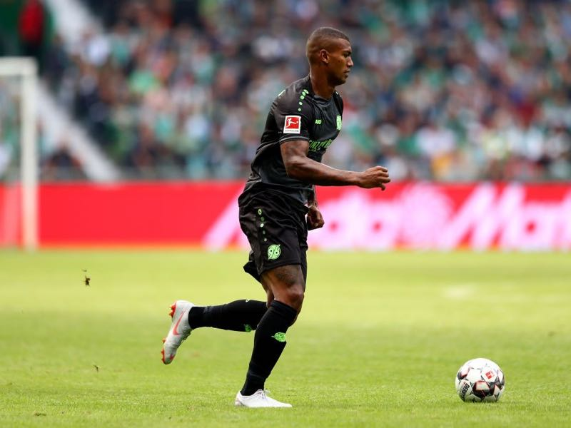 Walace of Hannover runs with the ball during the Bundesliga match between SV Werder Bremen and Hannover 96 at Weserstadion on August 25, 2018 in Bremen, Germany. (Photo by Martin Rose/Bongarts/Getty Images)