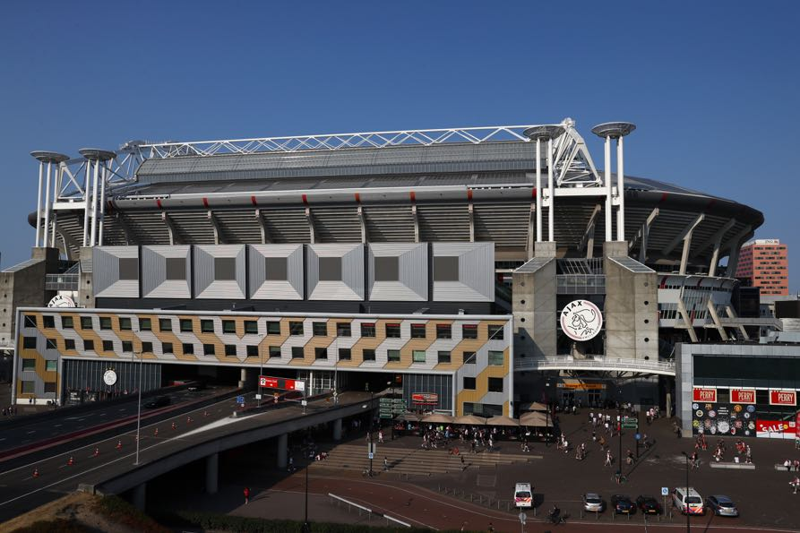 Ajax vs Real Madrid will take place at the Johan Cruijff Amsterdam ArenA (Photo by Dean Mouhtaropoulos/Getty Images)