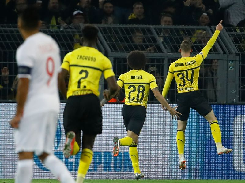Borussia Dortmund v Monaco - Jacob Bruun Larsen delivered power from the bench (ODD ANDERSEN/AFP/Getty Images)