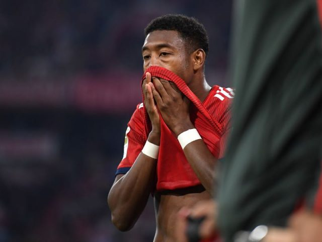 Bayern vs Borussia Mönchengladbach - David Alaba had to leave the match with an injury (Photo by Matthias Hangst/Bongarts/Getty Images)