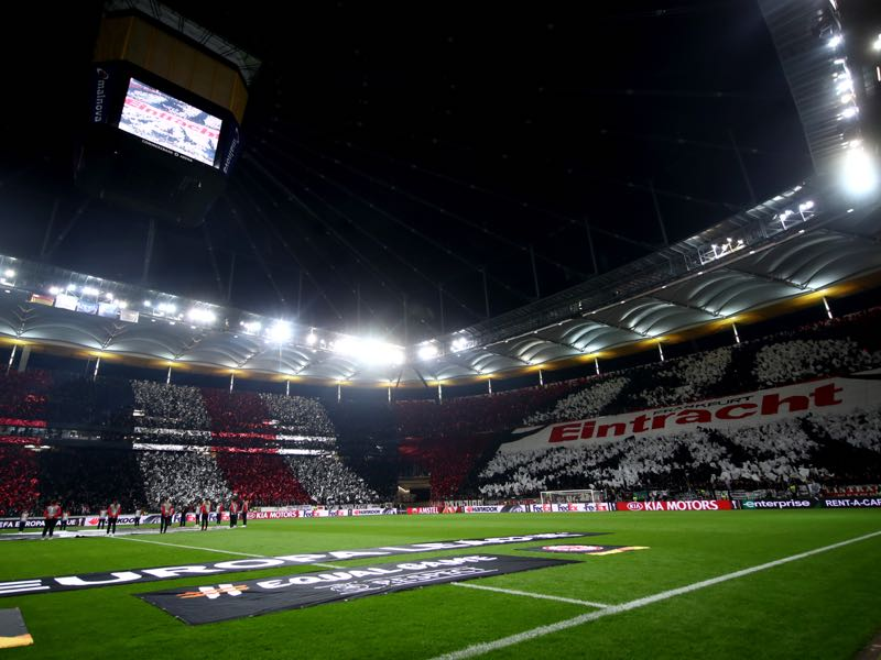 Eintracht Frankfurt vs Flora Tallinn will take place at the Commerzbank Arena in Frankfurt (Photo by Alex Grimm/Bongarts/Getty Images)