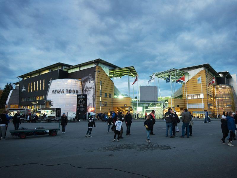 Rosenborg vs Leipzig will take place at the Lerkendal Stadion, in Trondheim, Norway. (Photo by Erik Birkeland/EuroFootball/Getty Images)