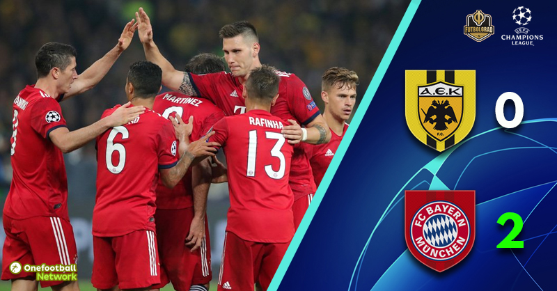 Champions League – Bayern clinical as they beat AEK in Athens